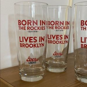 Coors Light beer glasses - lives in Brooklyn